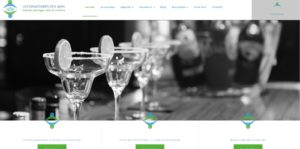 Création de site internet - Dînatoires des Amis